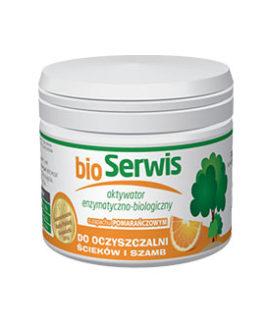 Aquafor Bioserwis oranžinis – valymo priemonė nuotėkoms ir valymo įrenginiams 200g