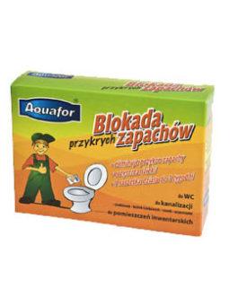 Aquafor vlogų kvapų blokatorius-tualeto įpakavimas- 4 paketėliai